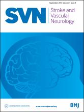 Stroke and Vascular Neurology: 1 (3)