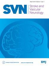 Stroke and Vascular Neurology: 3 (1)