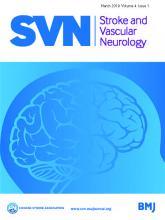 Stroke and Vascular Neurology: 4 (1)