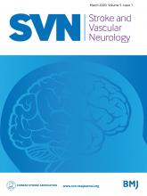 Stroke and Vascular Neurology: 5 (1)